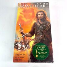 Braveheart (VHS, 1995 2-Tape Set) Mel Gibson - New & Sealed