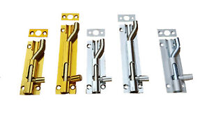 NECKED SLIDE BOLTS     Bathroom Shed Bedroom Toilet Door Lock Latch Small Large