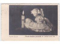 1941 Antigua Tarjeta Postal Estatua Navidad Jesús Niño Ángel Foto Pogacnik