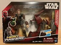 "Star Wars Hero Mashers, Jedi Speeder with Anakin Skywalker 6"" Figure"