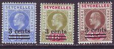 Seychelles 1903 SC 49-51 MH Set Surcharge