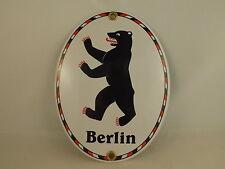 Alta Calidad Cartel Esmaltado Berlín 11,5 X 15CM Berliner Oso, Letrero de Metal