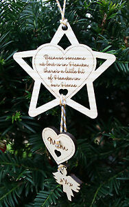 Personalised Memorial Christmas Tree Decoration Remembrance Memory Bauble Gift