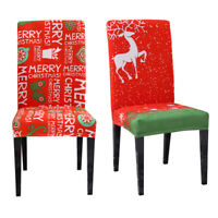 1PC Christmas Dining Chair Cover Stretch Seat Cover Home Party Banquet Slipcover