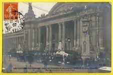 cpa Rare PARIS EXPO AUTOMOBILE 1907 Entrée du GRAND PALAIS Voitures CAR SHOW