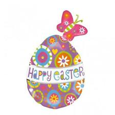 CLEARANCE Happy Easter Butterfly Egg Supershape Foil Balloon