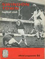 Football Programme - Swindon Town v Bristol Rovers - Div 3 - 21/1/1967