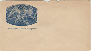 """Stamp USA """"The Union"""" it cannot be improved pre-printed propaganda envelope"""