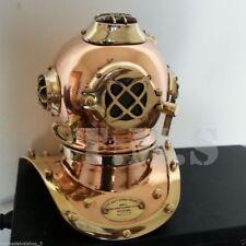 """Vintage Miniature Solid Brass Copper US Navy Mark V Diving Divers Helmet 7"""" Gift"""