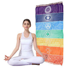 Rainbow Color Chakra Wall Hanging Tapestry Yoga Mat Beach Towel Shawl Blanket