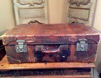 Antique Huge Suitcase Luggage Large Coach Trunk. Hafez Abbassi Le Caire