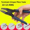 22-12 AWG DR-1 Terminal Crimp Plier Crimper Wire Stripper Crimping Tool