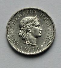 1975 SWITZERLAND Swiss Coin - 10 Rappen - AU++ lustre
