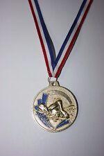 Médaille NATATION Métal Doré avec ruban Tricolore Ø 50 mm poids 30 gr NEUF