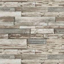 Erismann Papel pintado Old Gastado Madera Paneles/Tablas Gris & Blanco 7319-10