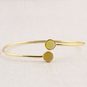 Stylish Yellow Sugar Druzy Yellow Gold Plated DIY Handmade Adjustable Bracelets