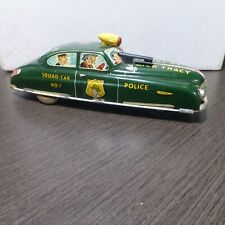 Vintage Marx Dick Tracy Tin Metal Friction Police Car super nice condition