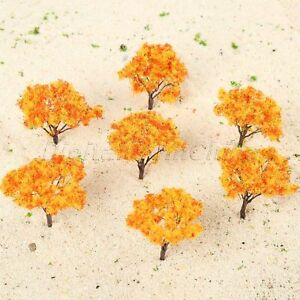 20Pcs HO Scale Architectural Model Tree Scenery Trees Railroad Wargame Layout