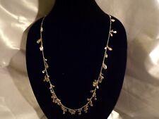 """Kendra Scott Bella Long Necklace Gold Petals Accents 40"""" Chain 710"""