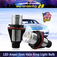 PAIR 10W LED Angel Eye Halo Ring Light Bulb For BMW E39 E60 E63 E64 E53 X5 6000K