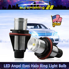 PAIR 10W LED Angel Eye Halo Ring Light Bulb For BMW E39 E60 E63 E64 E53 X5 6000K