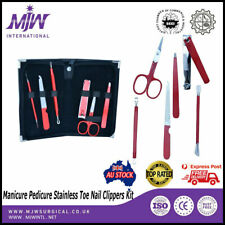6 PCS Manicure Pedicure Stainless Toe Nail Clippers Kit Cuticle Grooming Tools
