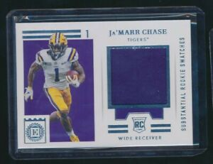 2021 CHRONICLES ENCASED SUBSTANTIAL JERSEY RELIC JA'MARR CHASE LSU