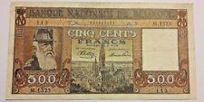 ==>> 500 Francs 1945 500 Frank Belgique Belgïe Leopold II KM:127a TTB-SUP <<==