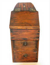 Antique Primitive Wall Hanging Apothecary Spice Cabinet Box