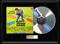 JAMES BROWN PLEASE PLEASE  LP  ALBUM  RARE  WHITE GOLD SILVER  METALIZED RECORD