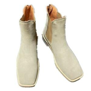 Men's shoes 40-47 Ankle Chelsea Boots Suede Stretch Chukka Pull on Angular 2022