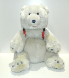 """GUND American Eagle Outfitters 20"""" Plush Polar Bear With Backpack Stuffed Animal"""