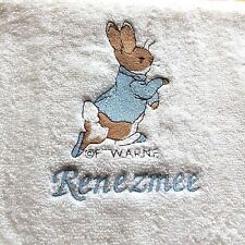 Peter Rabbit Personalised Bath Towel 100% Cotton free p&p
