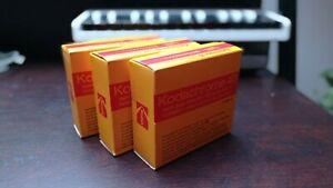 Three Kodachrome 40 Sound Colour Movie Film Type A