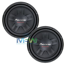 "(2) PIONEER TS-W311S4 12"" CHAMPION Series SINGLE 4-OHM CAR AUDIO SUBWOOFERS PAIR"