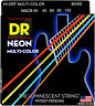 DR Strings NMCB-45 HiDef Neon Coated Medium Bass Strings 45-105 Multi-Color
