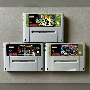 Super Nintendo SNES Game Bundle (x3) PAL. Excellent Condition.