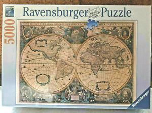 Ravensburger 5000 Piece Jigsaw Puzzle Antique World Map 174119 NEW SEALED