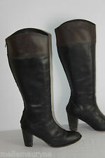 Boots Friis Company Black Leather and Brown T 39 Be