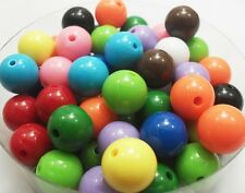 40pcs Mixed Color Acrylic Beads Candy colors Round Spacer Beads 14mm DF496