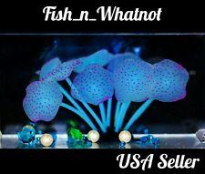 Silicone Artificial Coral Aquarium Plant Fake 11Leave Betta Goldfish Cichlid New