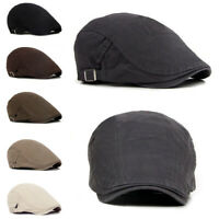 Fj- Uomo Edera Cappello Berets Golf Guida Sole Piatto Cabbie Coppola Cap-Fashion