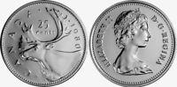 Canada 1980 25 Cents Choice BU UNC MS-63 Quarter!!