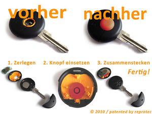 2x Smart Druckknopf Schlüssel Fernbedienung Funk Ersatz Knopf Taste MC01 ForTwo