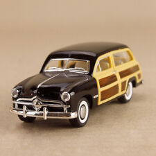 1949 Ford Woody Wagon Vintage Black Car 1:40 Scale 12cm Die-Cast Pull-Back OLP