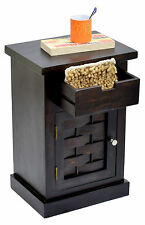TimberTaste ALASKA Solid Sheesham Wood Dark Walnut Side Accent End Multi Table