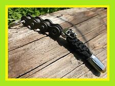 NEW BLACK HARLEY DAVIDSON STYLE WILLIE G MOTORCYCLE KEY CHAIN SKULL & .45 BULLET