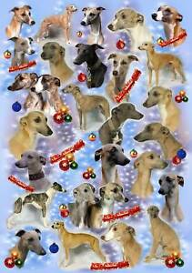 Whippet Dog Christmas Wrapping Paper By Starprint - Auto combined postage