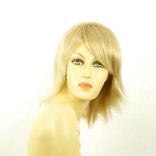 Perruque femme mi-longue blond doré méché blond très clair  KAREN 24BT613