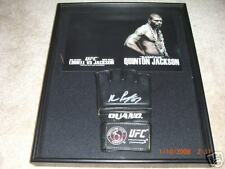 UFC RAMPAGE SIGNED OUANO GLOVE FRAMED MMA AUTOGRAPHED